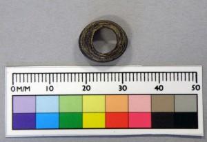 Figure 1: Small purplish-brown annular bead
