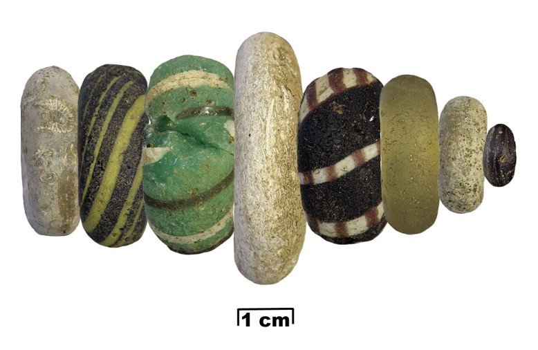 Figure 6: Reconstruction of how the beads may have been used.